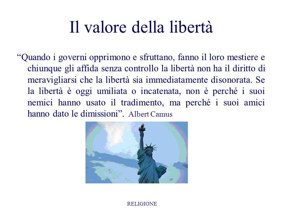 Il valore della libertà
