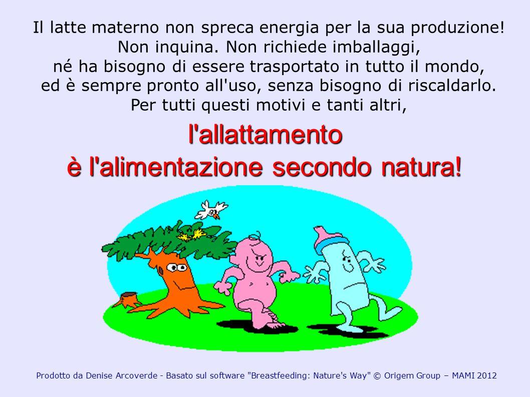 l allattamento è l alimentazione secondo natura!