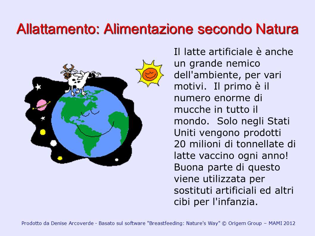 Allattamento: Alimentazione secondo Natura