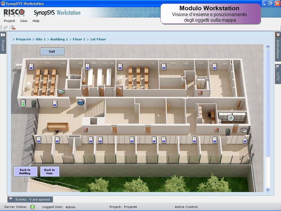 Modulo Workstation Visione d'insieme e posizionamento