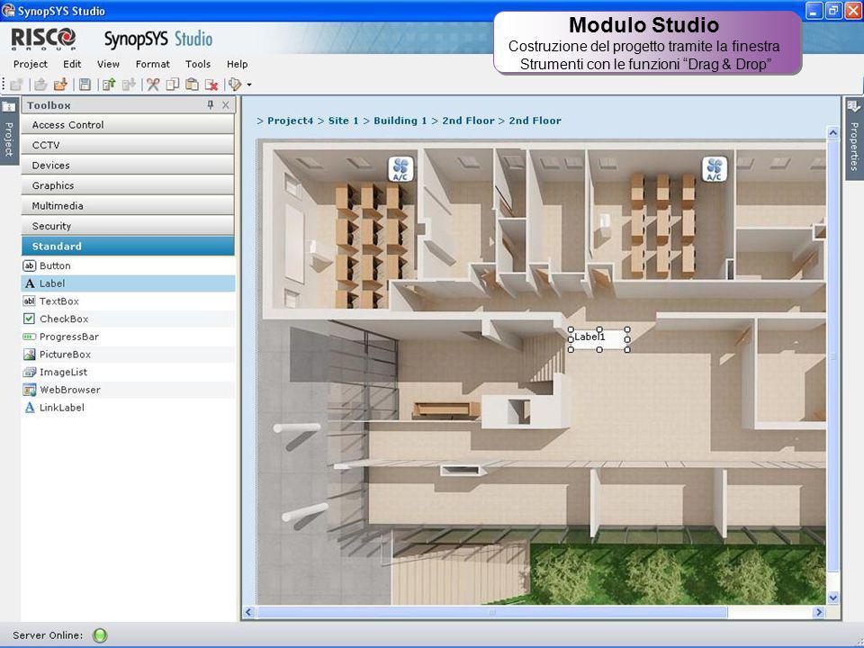 Modulo Studio Costruzione del progetto tramite la finestra