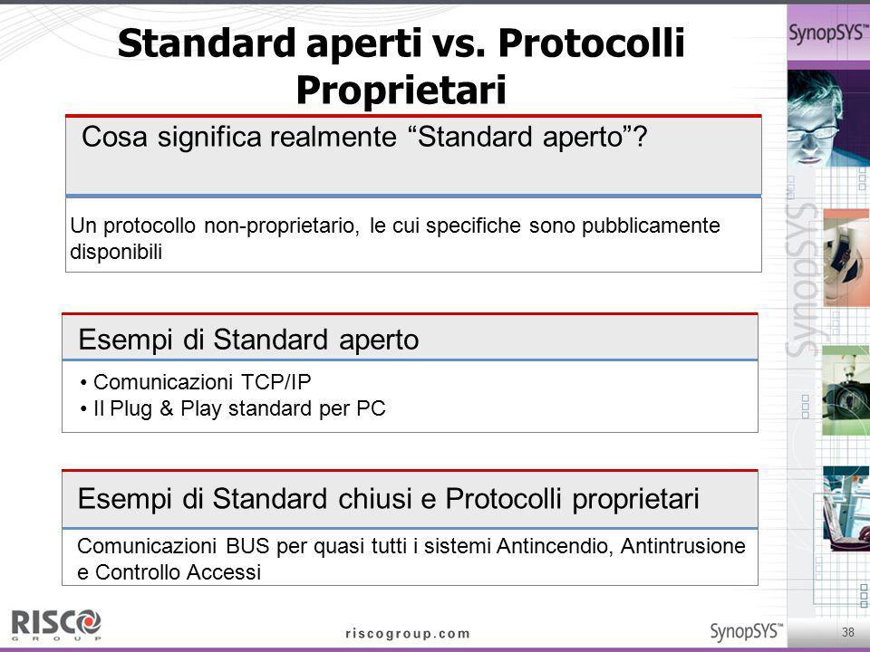 Standard aperti vs. Protocolli Proprietari