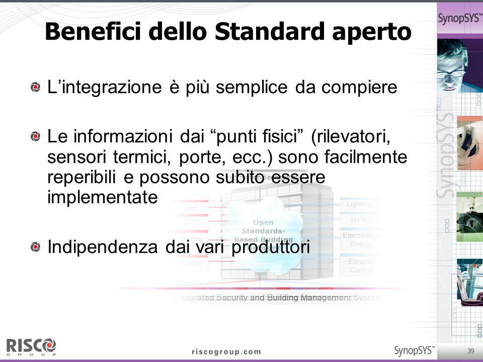 Benefici dello Standard aperto