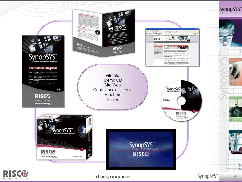 Filmato Demo CD Sito Web Confezione e Licenza Brochure Poster