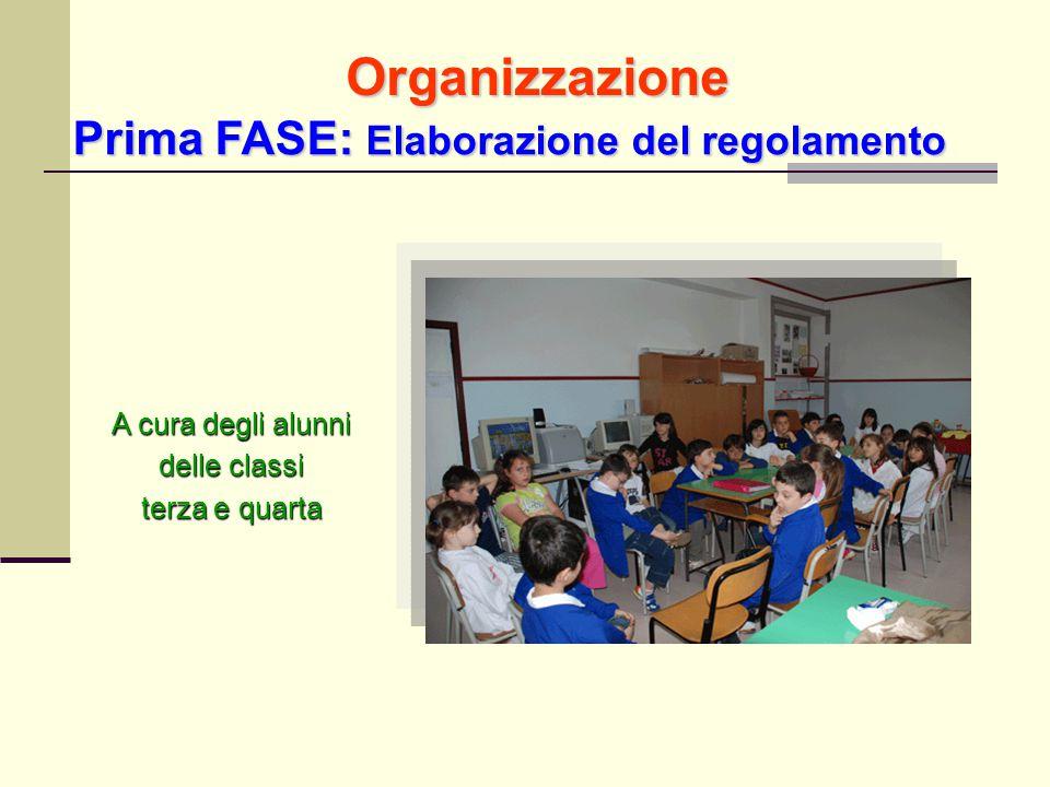 Organizzazione Prima FASE: Elaborazione del regolamento