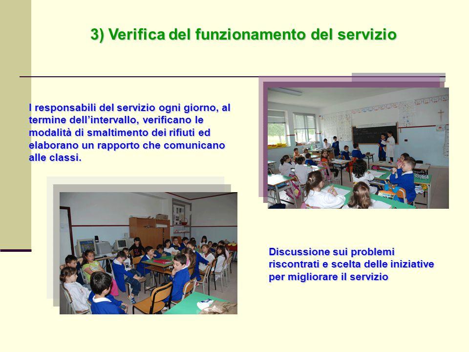 3) Verifica del funzionamento del servizio