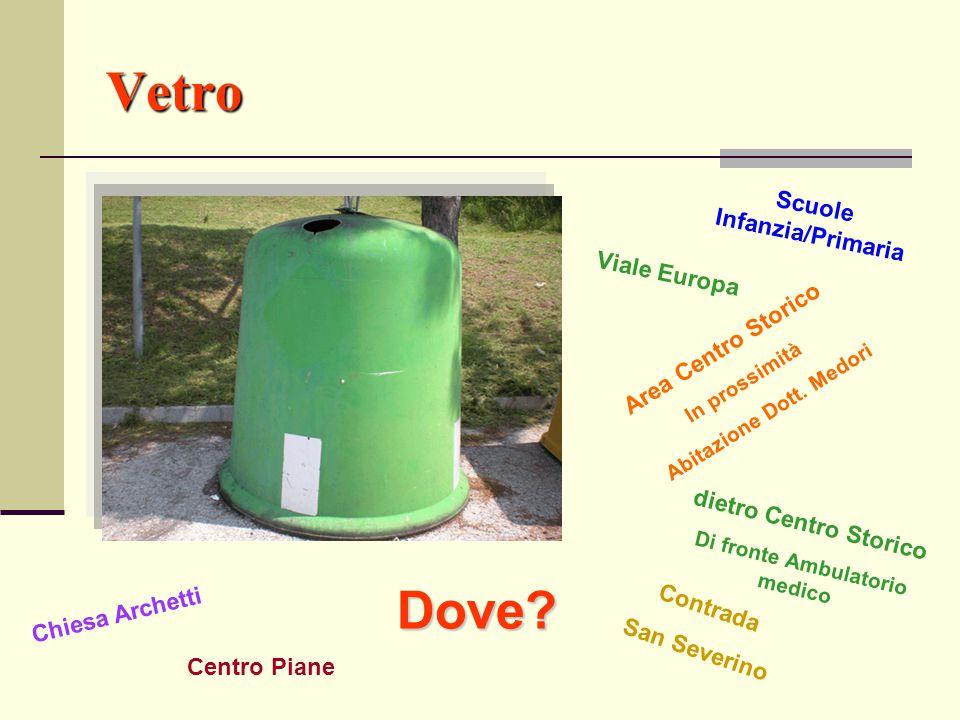 Vetro Dove Scuole Infanzia/Primaria Viale Europa Area Centro Storico