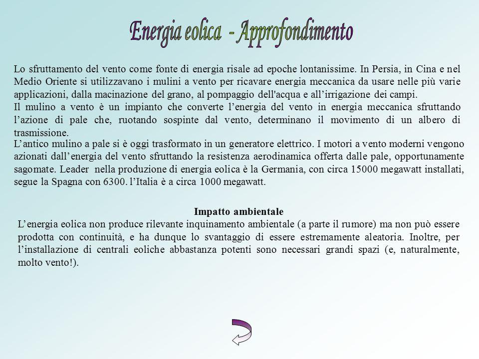 Energia eolica - Approfondimento