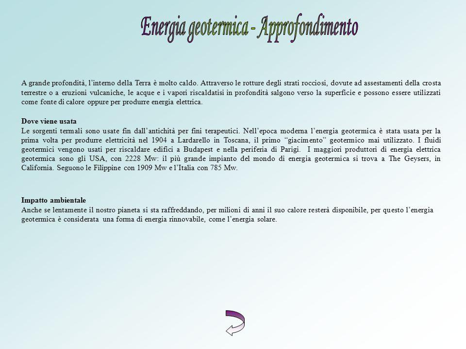Energia geotermica - Approfondimento