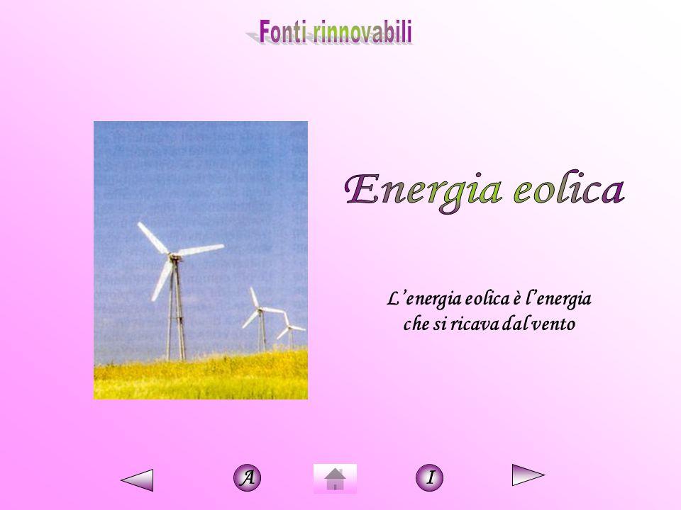 L'energia eolica è l'energia che si ricava dal vento