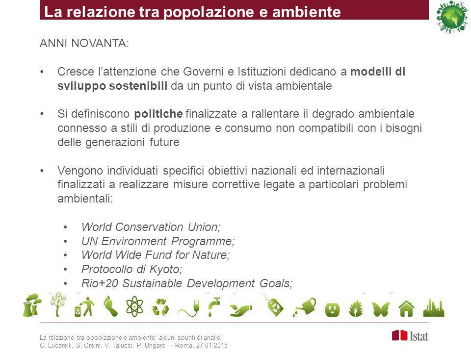 La relazione tra popolazione e ambiente