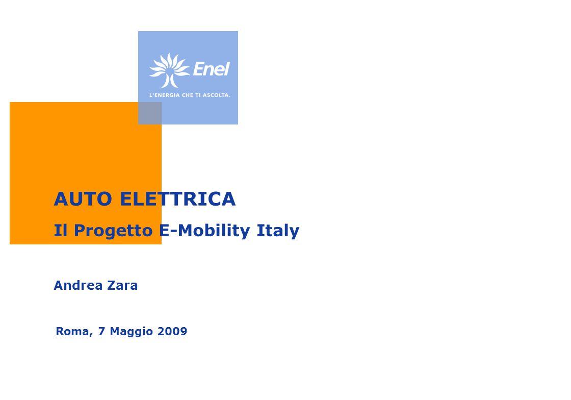 AUTO ELETTRICA Il Progetto E-Mobility Italy Andrea Zara