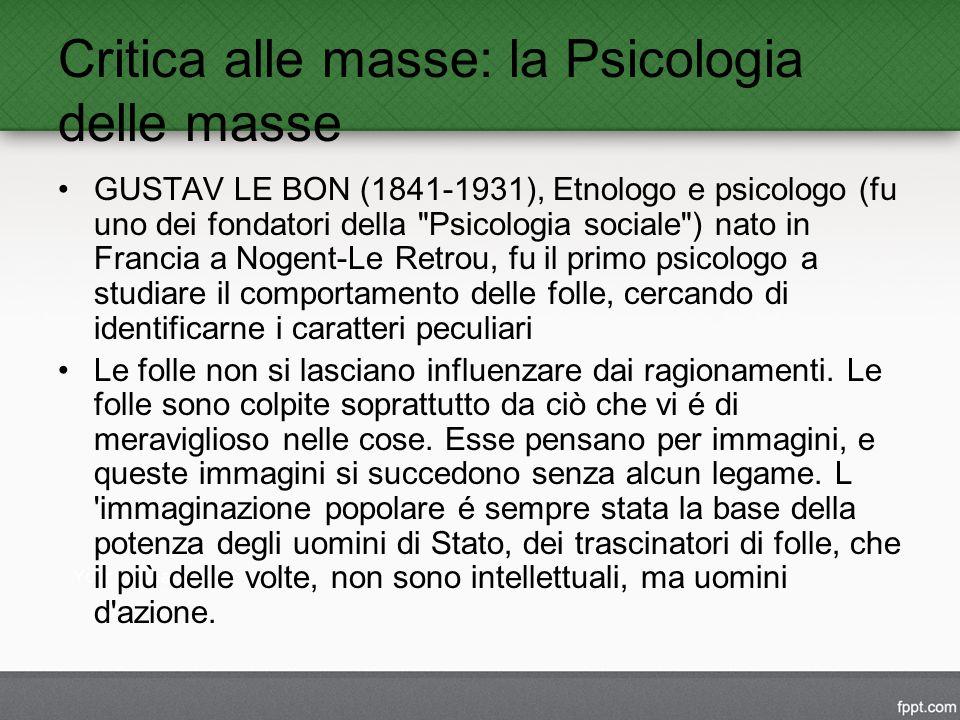 Critica alle masse: la Psicologia delle masse