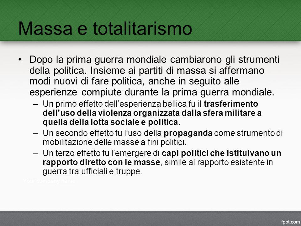 Massa e totalitarismo
