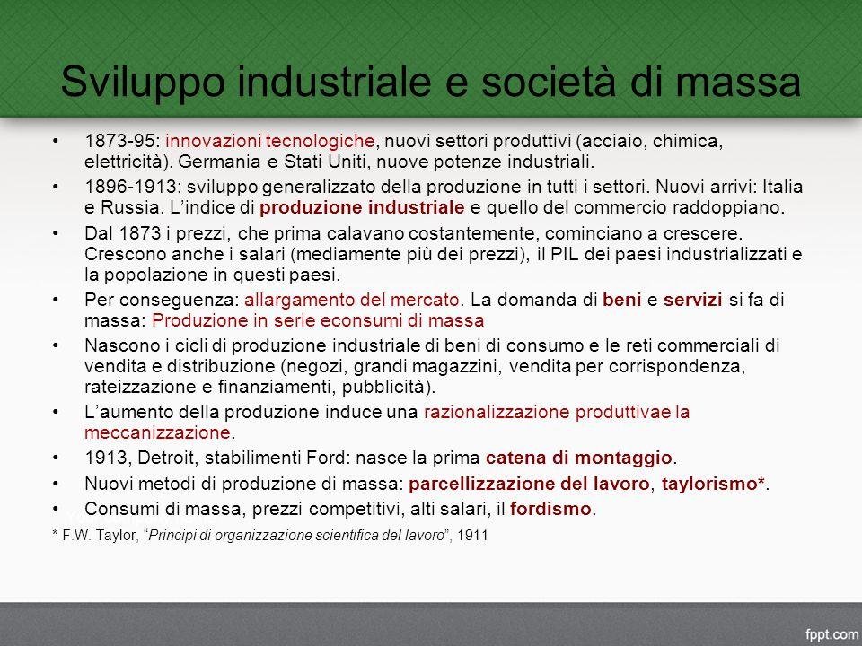 Sviluppo industriale e società di massa