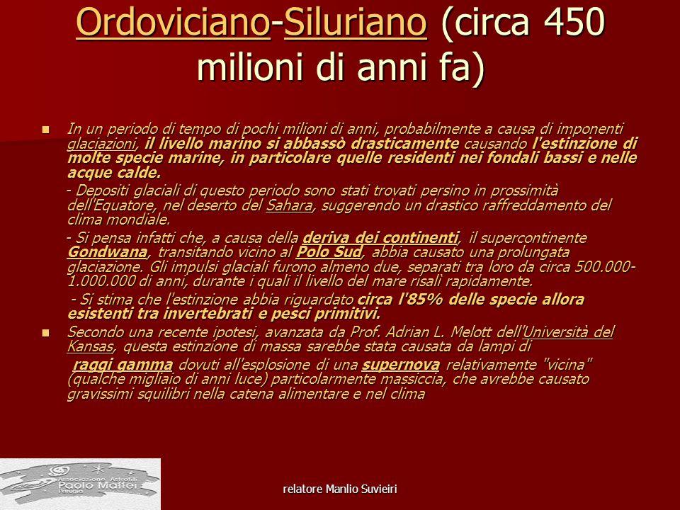 Ordoviciano-Siluriano (circa 450 milioni di anni fa)