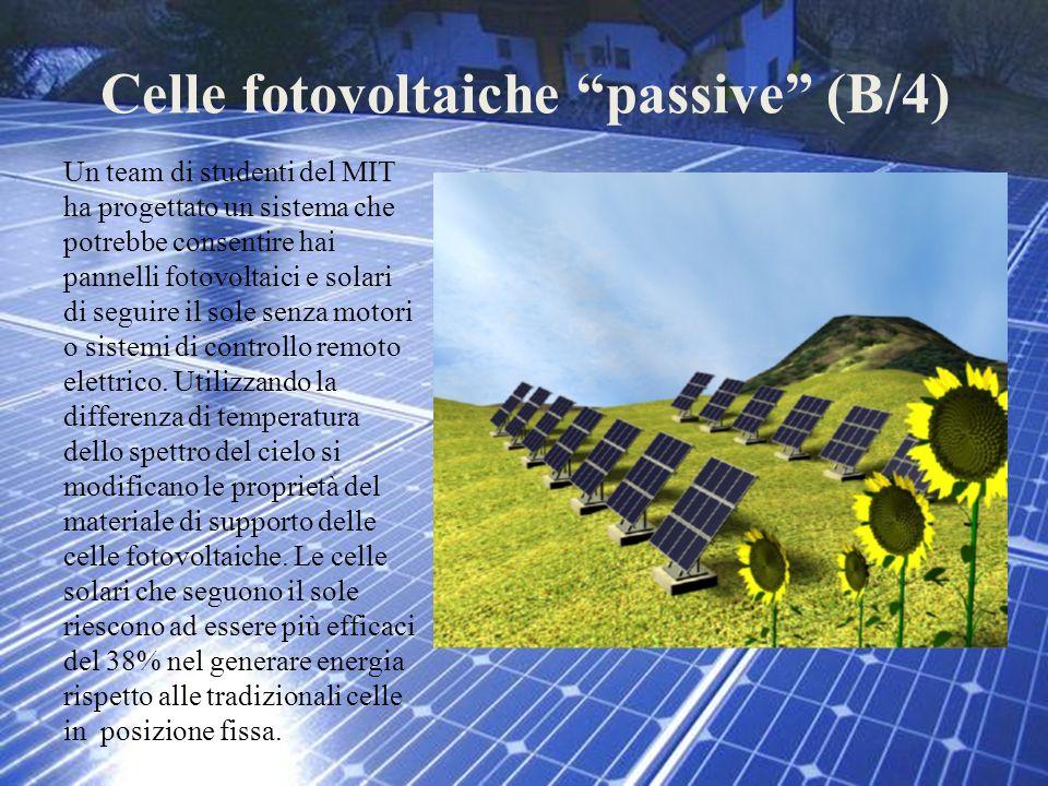 Celle fotovoltaiche passive (B/4)