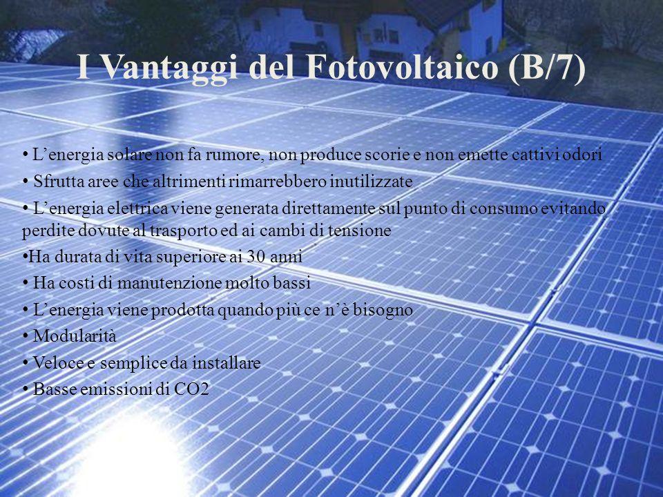 I Vantaggi del Fotovoltaico (B/7)