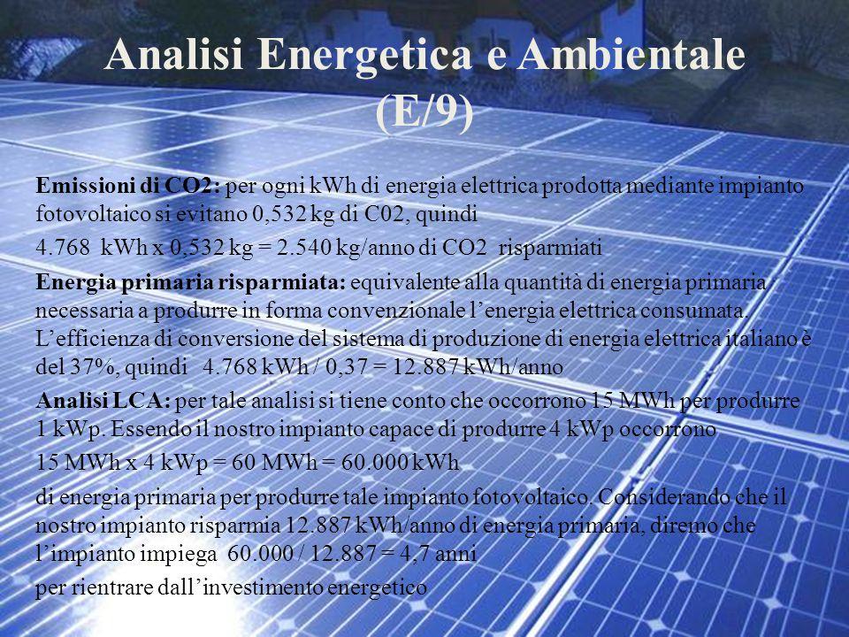 Analisi Energetica e Ambientale (E/9)