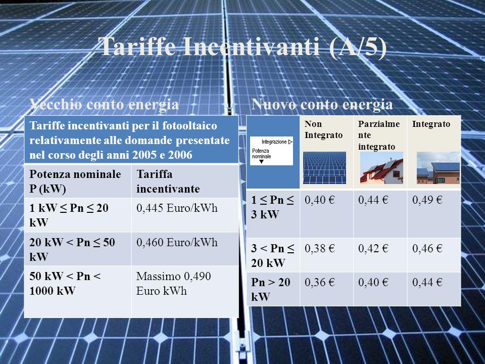 Tariffe Incentivanti (A/5)
