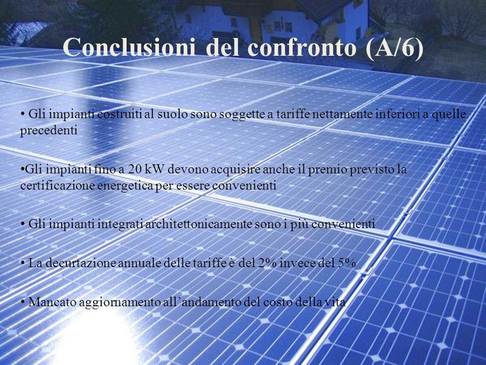 Conclusioni del confronto (A/6)