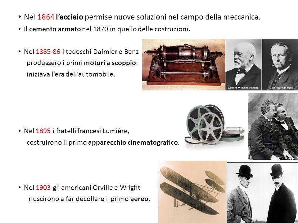 Nel 1864 l'acciaio permise nuove soluzioni nel campo della meccanica.