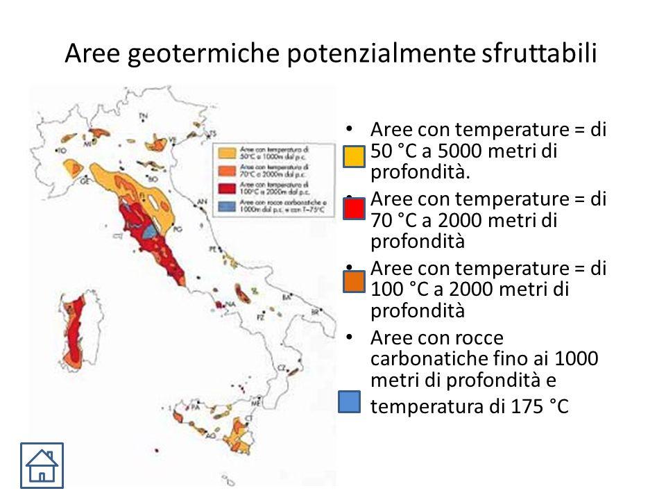 Aree geotermiche potenzialmente sfruttabili