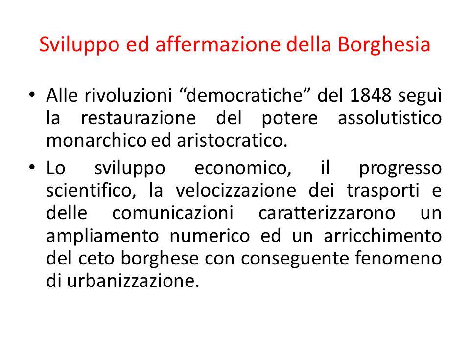 Sviluppo ed affermazione della Borghesia
