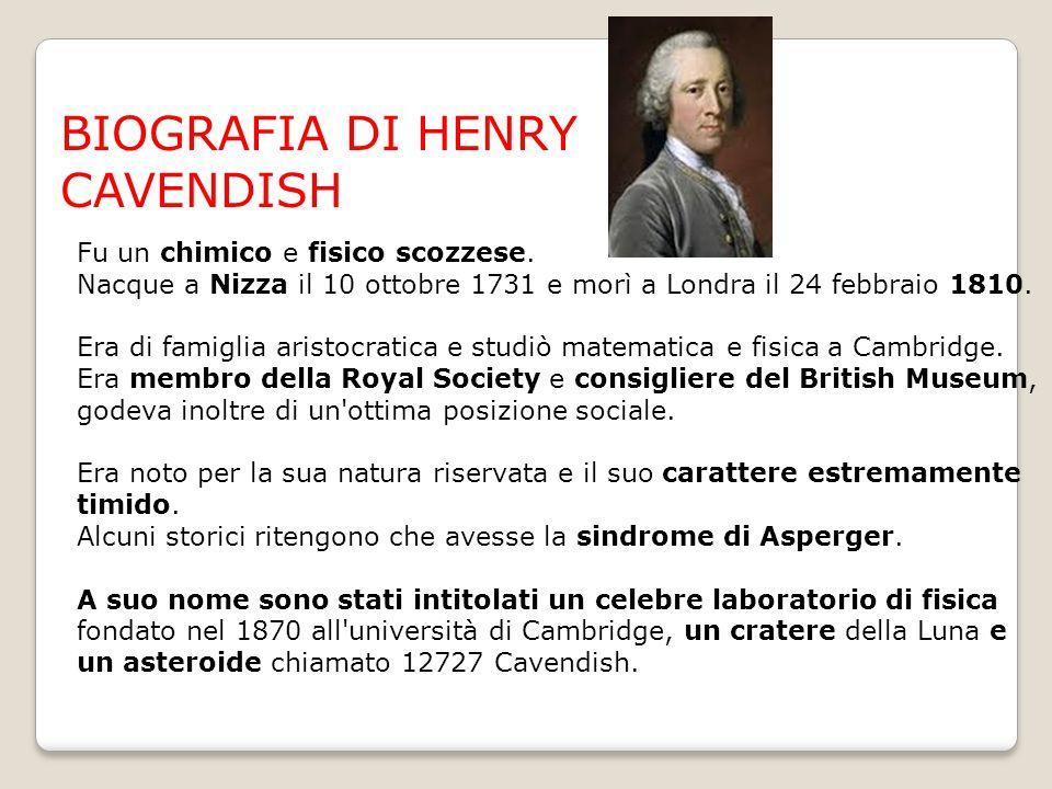 BIOGRAFIA DI HENRY CAVENDISH
