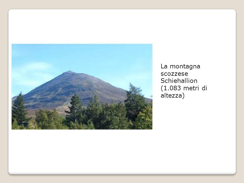 La montagna scozzese Schiehallion (1.083 metri di altezza)