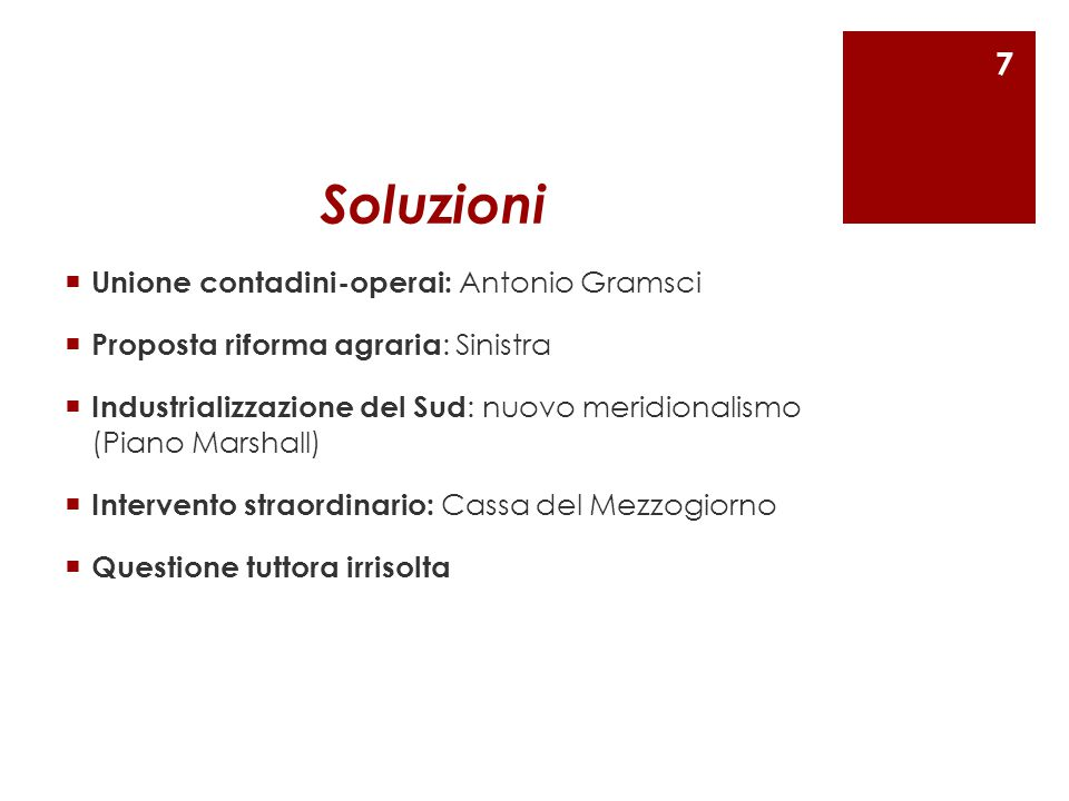 Soluzioni Unione contadini-operai: Antonio Gramsci