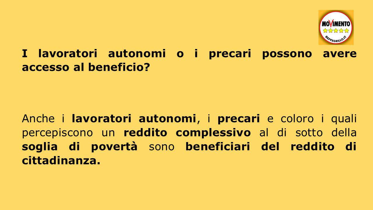 I lavoratori autonomi o i precari possono avere accesso al beneficio