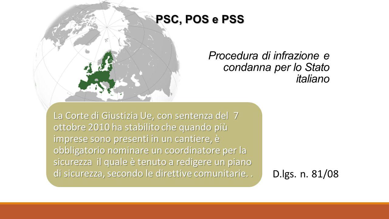 Procedura di infrazione e condanna per lo Stato italiano