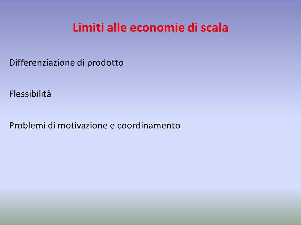 Limiti alle economie di scala