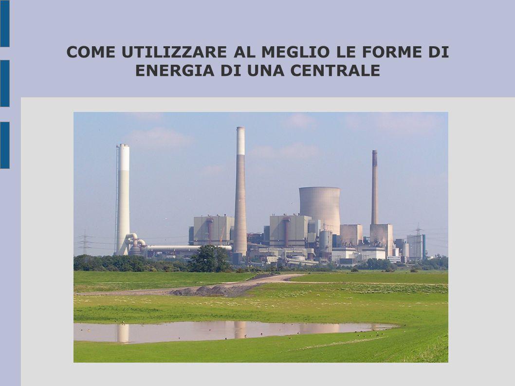 COME UTILIZZARE AL MEGLIO LE FORME DI ENERGIA DI UNA CENTRALE