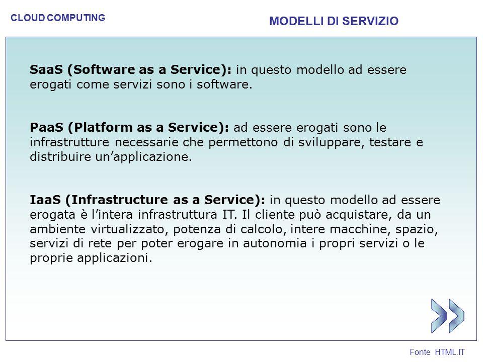 >> MODELLI DI SERVIZIO