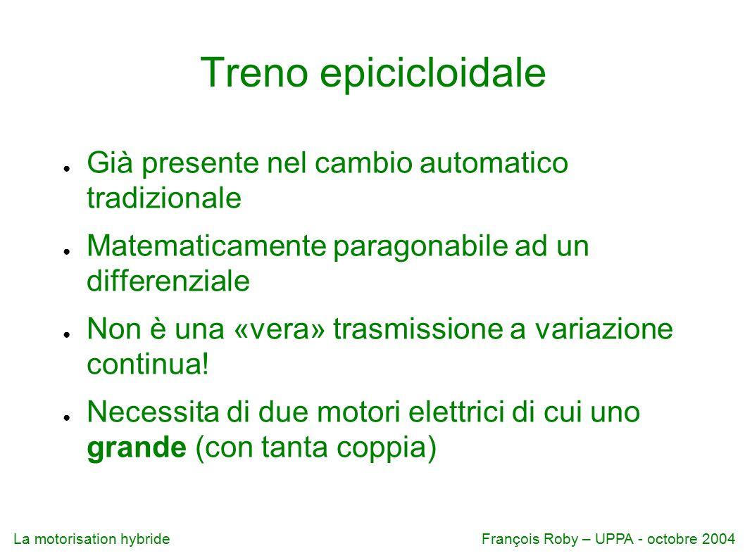 Treno epicicloidale Già presente nel cambio automatico tradizionale