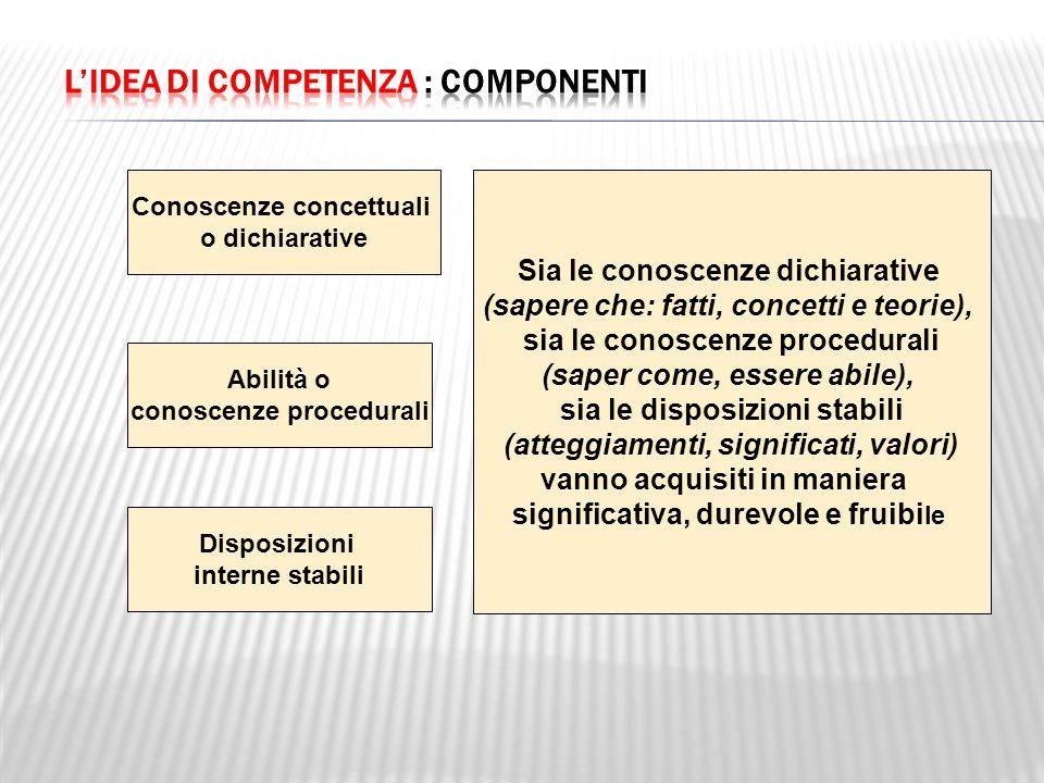 L'idea di competenza : componenti