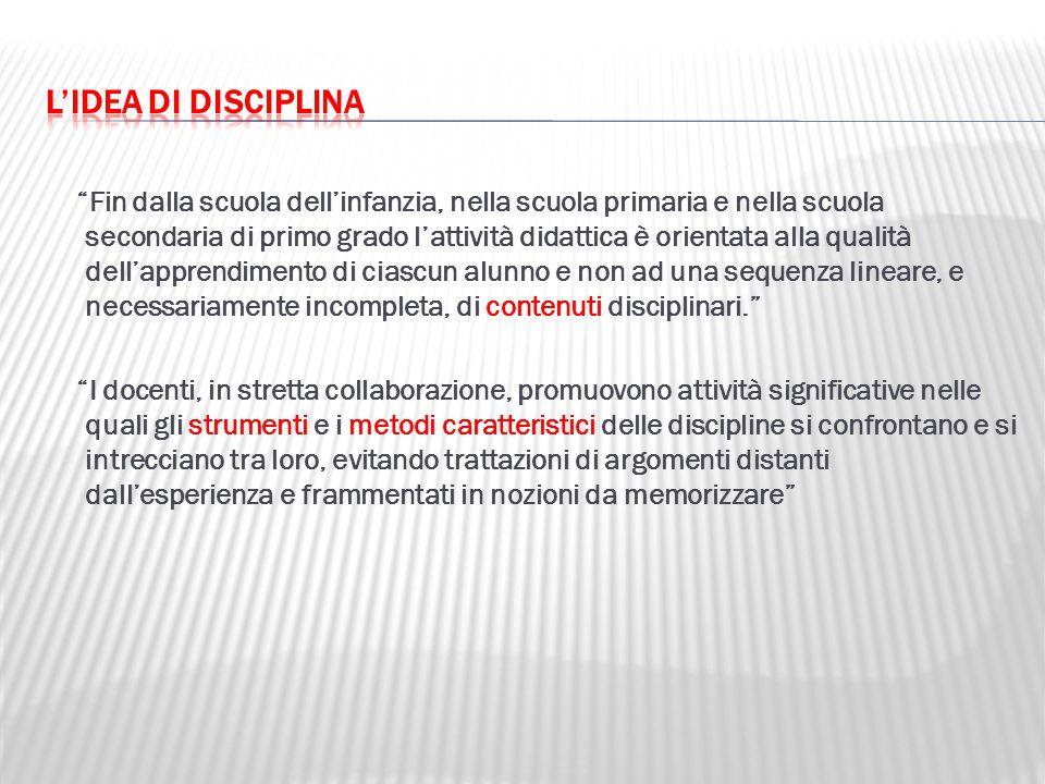 L'idea di disciplina