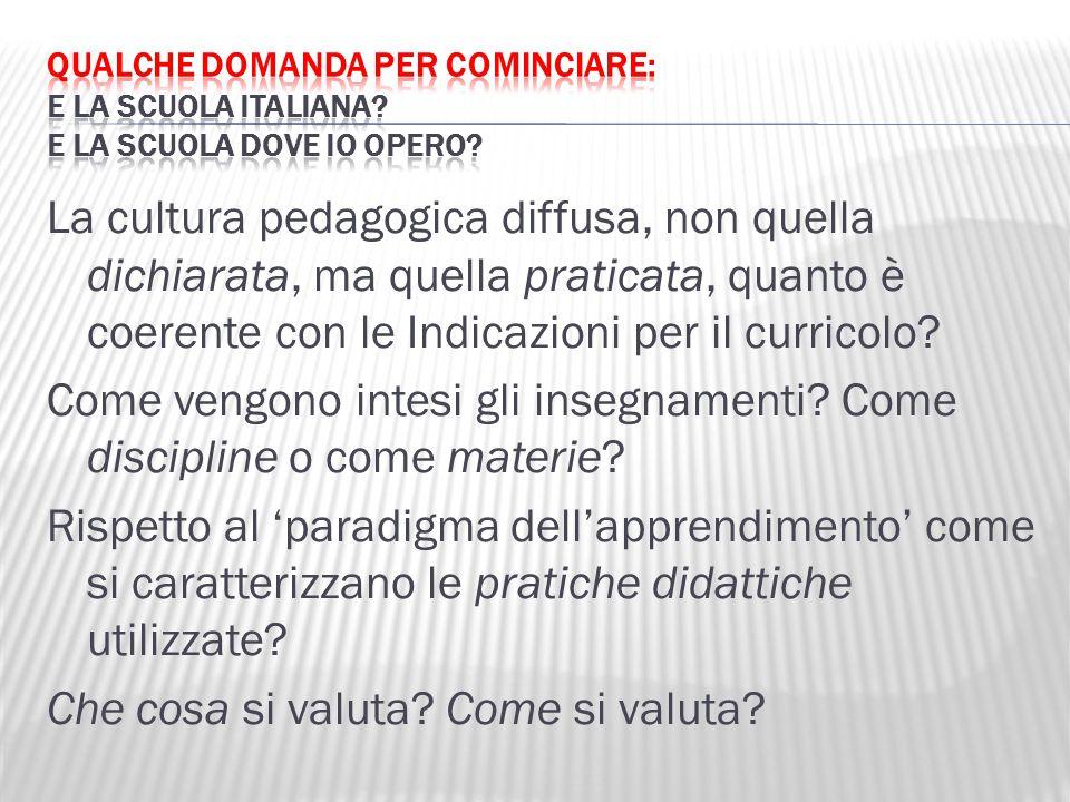 Qualche domanda per cominciare: e la scuola italiana