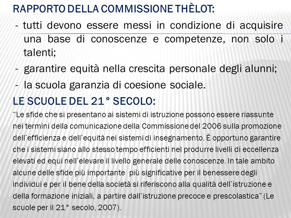 RAPPORTO DELLA COMMISSIONE THÈLOT: