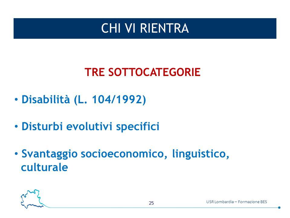 CHI VI RIENTRA TRE SOTTOCATEGORIE Disabilità (L. 104/1992)