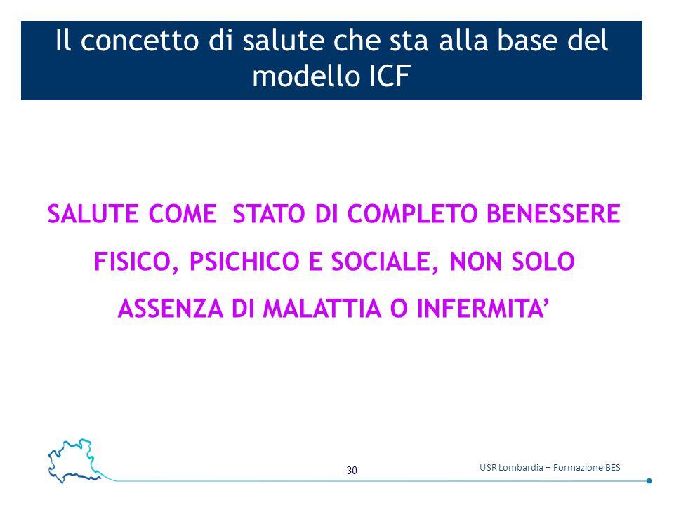 Il concetto di salute che sta alla base del modello ICF