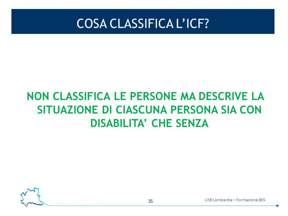 COSA CLASSIFICA L'ICF.