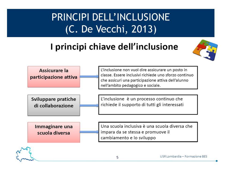 Principi dell'inclusione (C. De Vecchi, 2013)