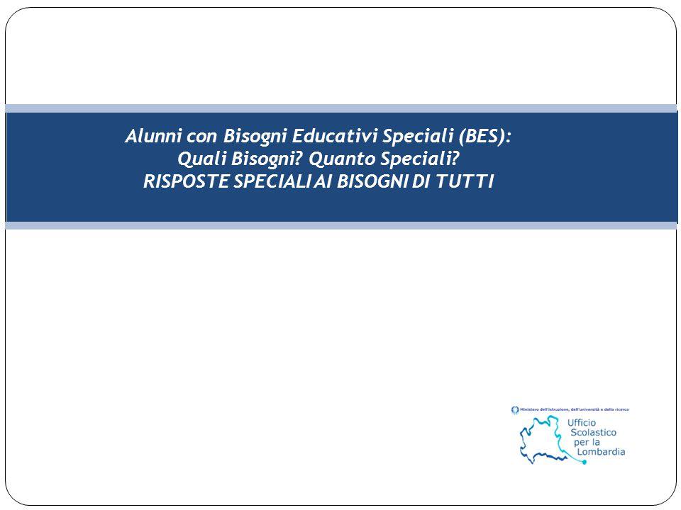 Alunni con Bisogni Educativi Speciali (BES):