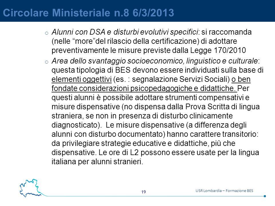 Circolare Ministeriale n.8 6/3/2013