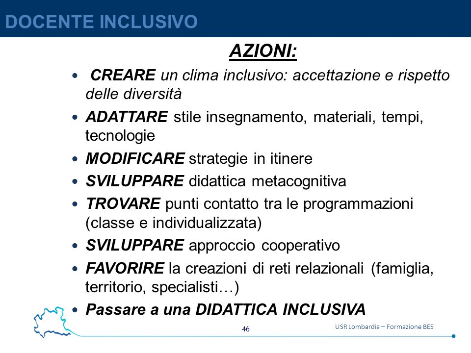 DOCENTE INCLUSIVO AZIONI:
