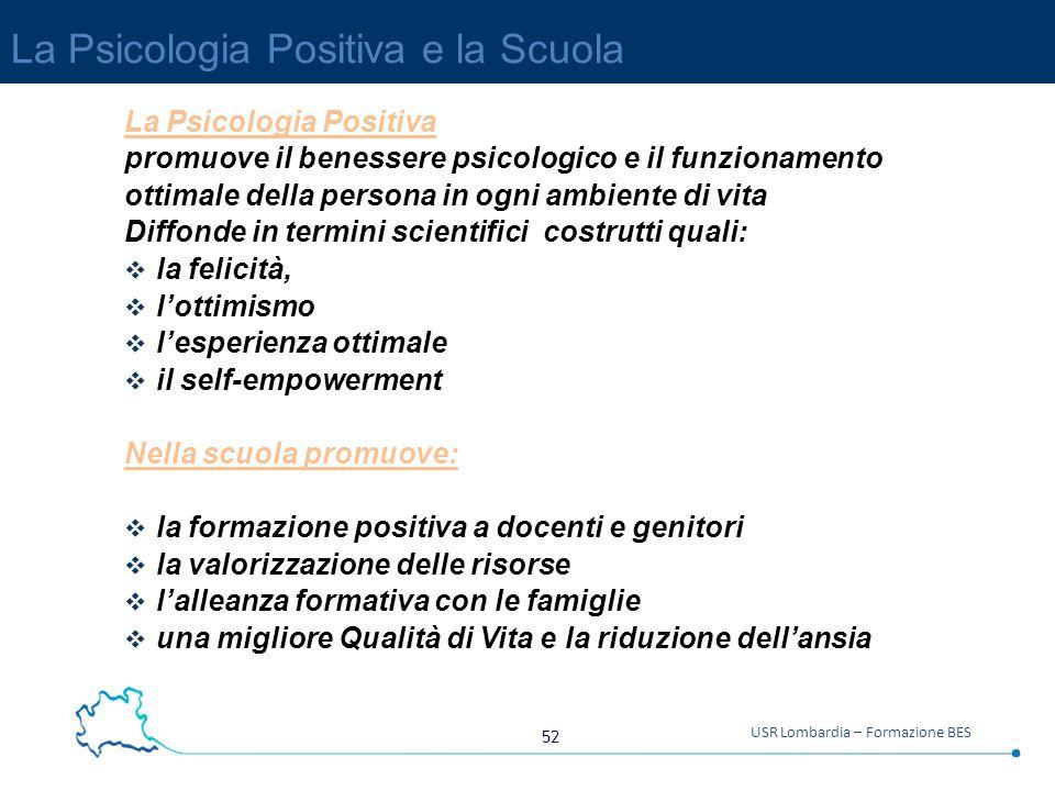 La Psicologia Positiva e la Scuola
