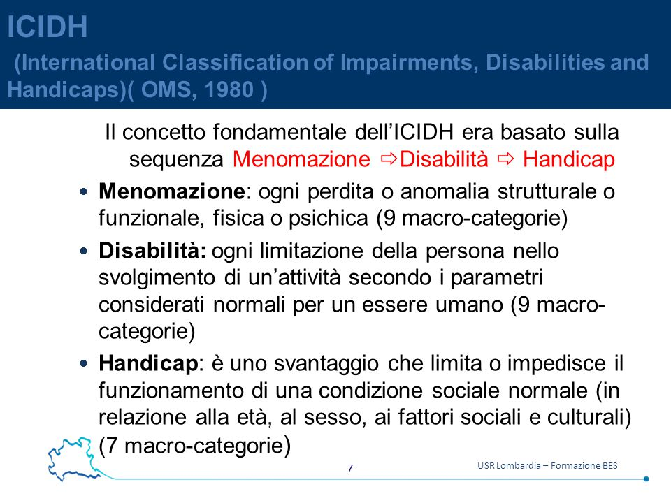 ICIDH (International Classification of Impairments, Disabilities and Handicaps)( OMS, 1980 )